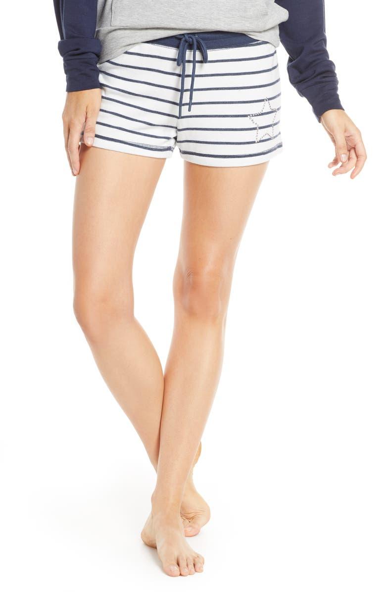 PJ SALVAGE Dream Mix Stripe Pajama Shorts, Main, color, 900