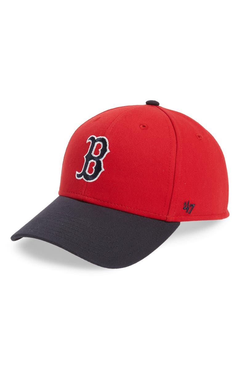 '47 Short Stack Boston Red Sox Baseball Cap, Main, color, 600