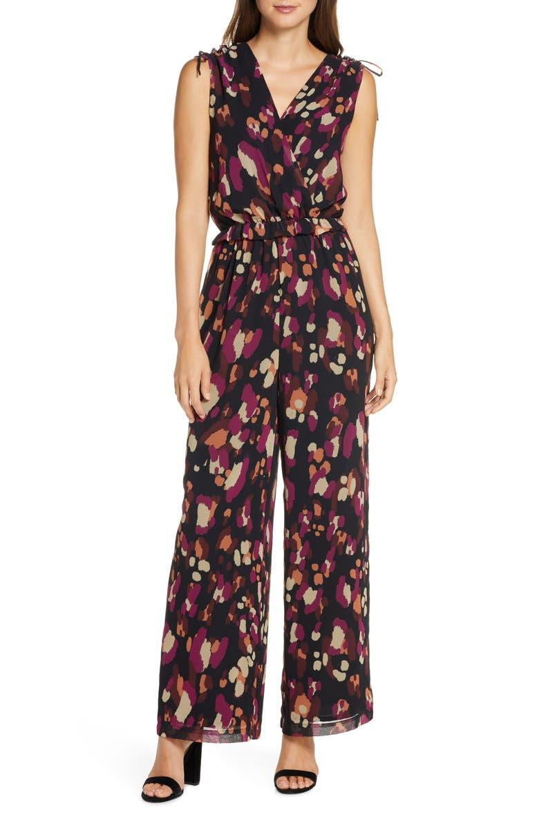 ADELYN RAE Morrigan Print Jumpsuit, Main, color, 001
