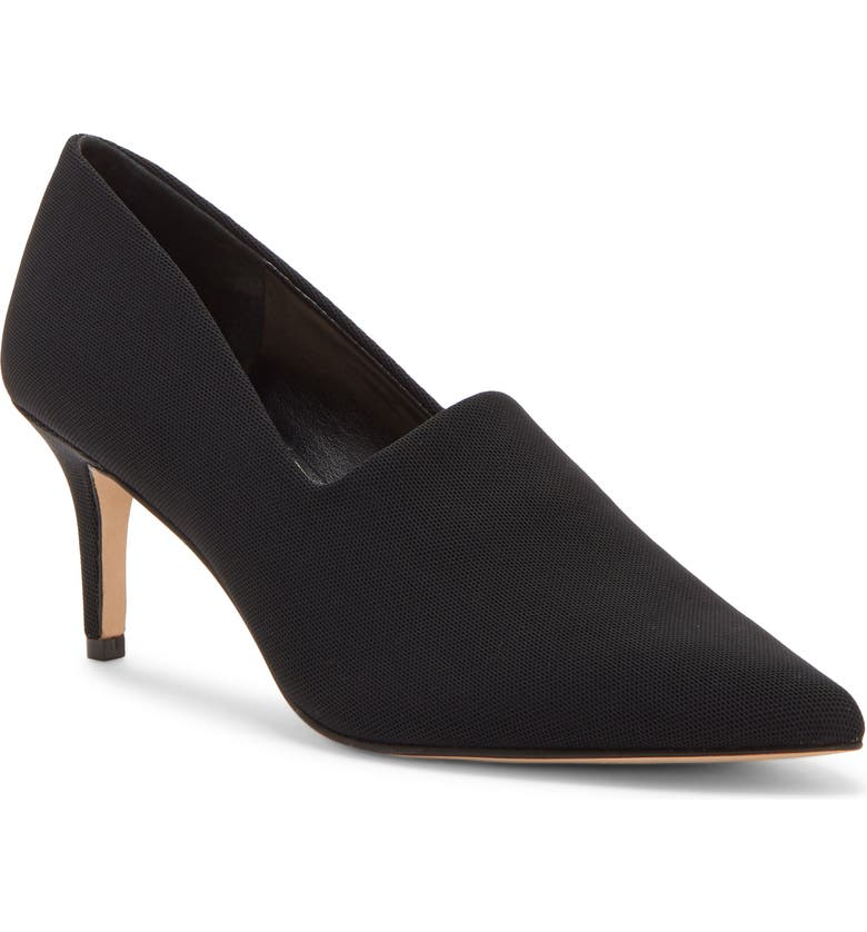ENZO ANGIOLINI Dree Stretch Pump, Main, color, BLACK FABRIC