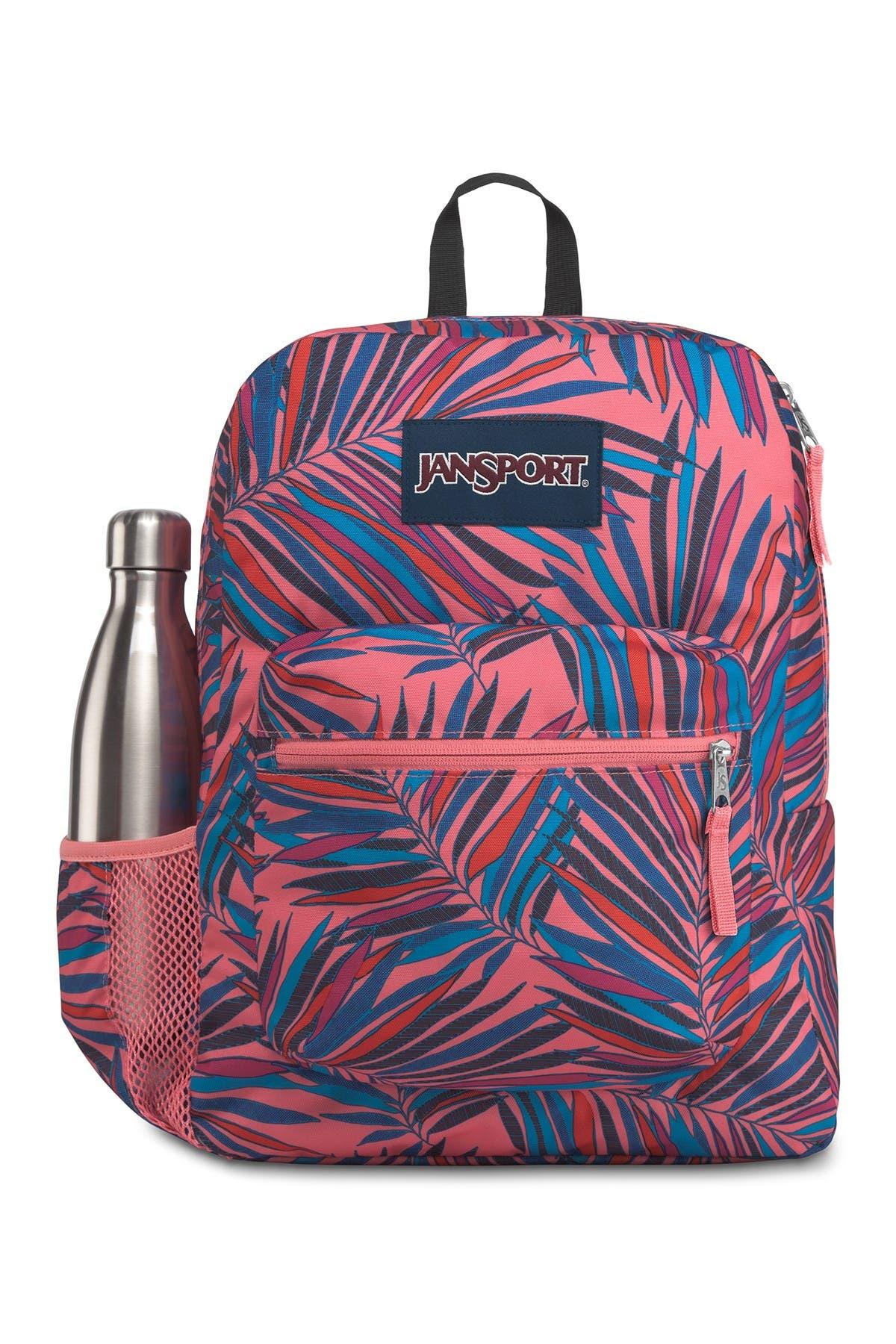 Image of JANSPORT Palm Leaf Print Cross Town Backpack