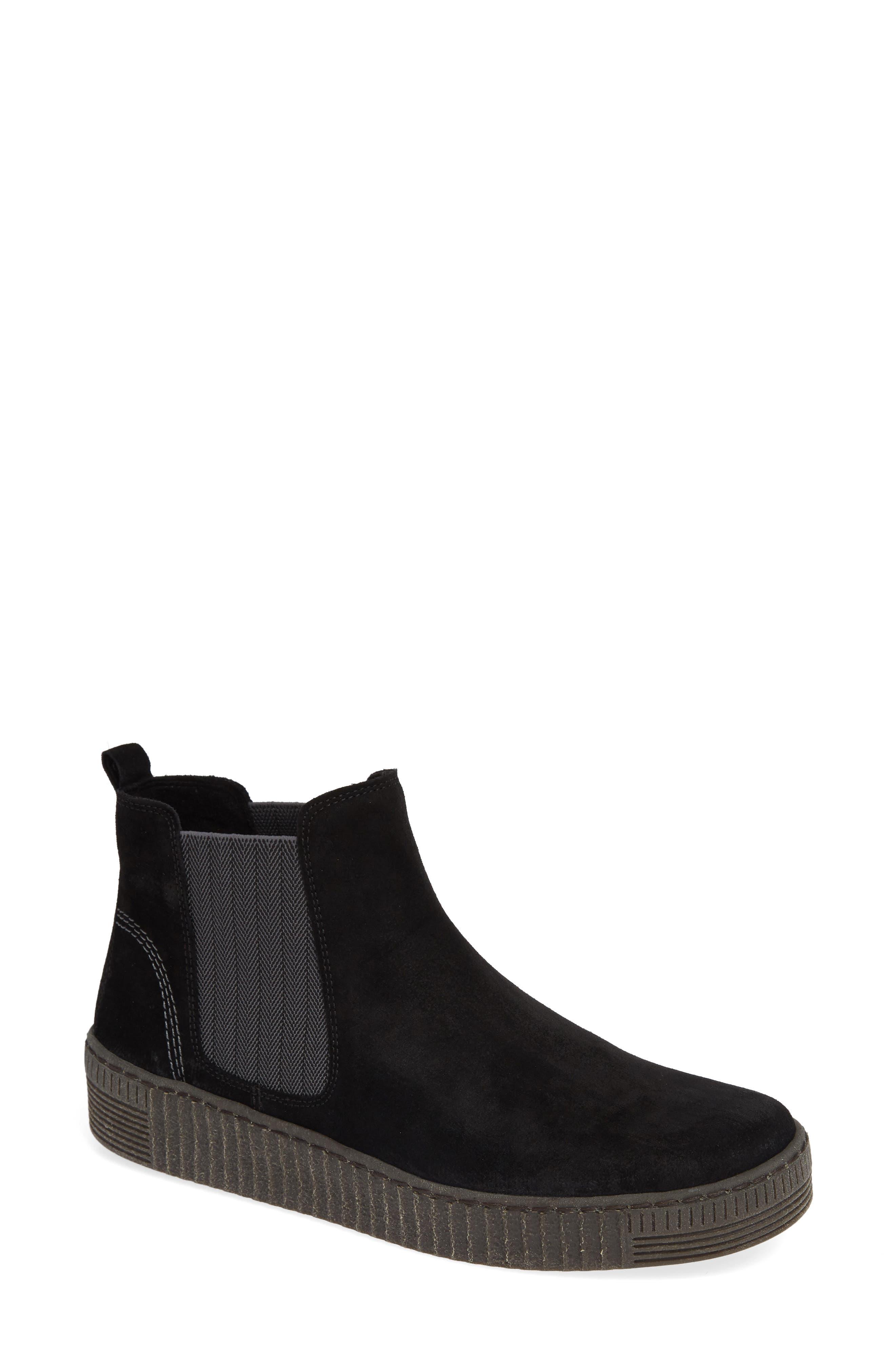 Gabor Chelsea Sneaker, Black