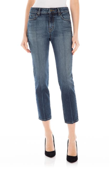 Image of FIDELITY DENIM Arcadia Cropped Seamed Jeans