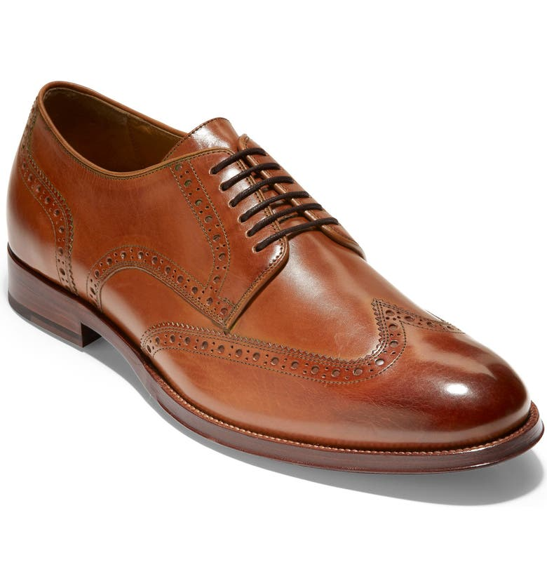 COLE HAAN American Classics Gramercy Wingtip, Main, color, BRITISH TAN LEATHER