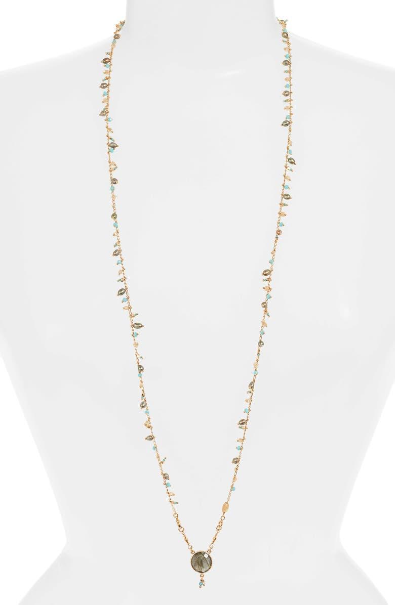 GAS BIJOUX Scapulaire Convertible Pendant Necklace, Main, color, MULTI/ TURQUOISE