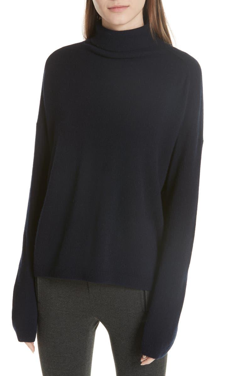 VINCE Cashmere Boxy Turtleneck Sweater, Main, color, 403