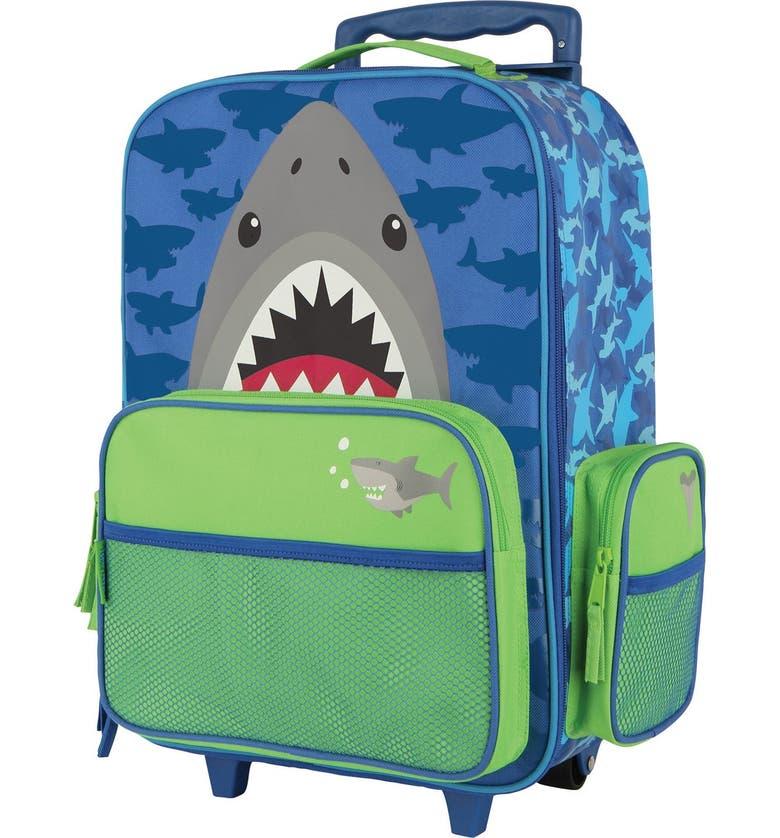 STEPHEN JOSEPH Rolling Suitcase, Main, color, SHARK
