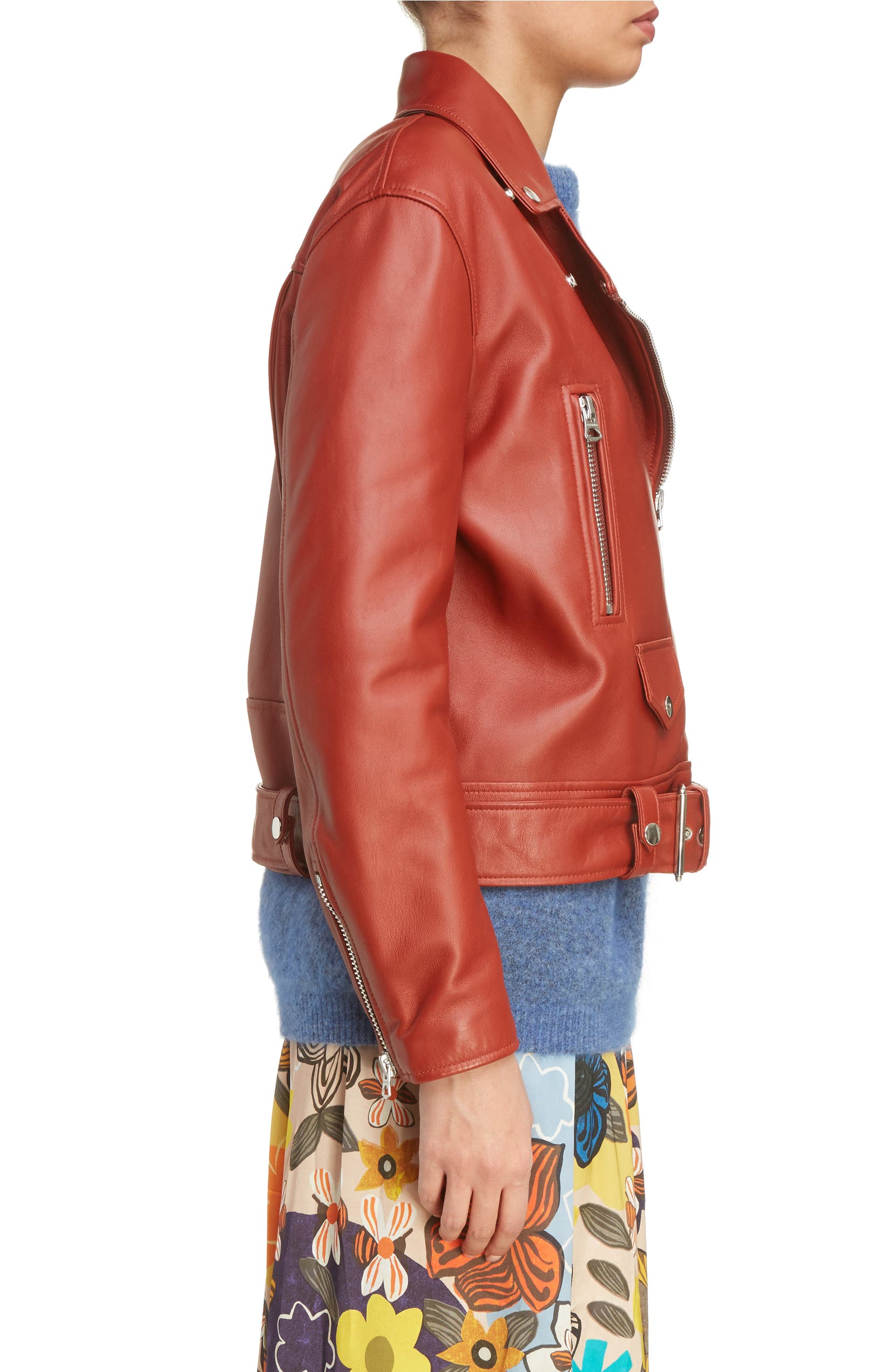 3e3a034c1 Acne Studios Merlyn Leather Moto Jacket | Nordstrom