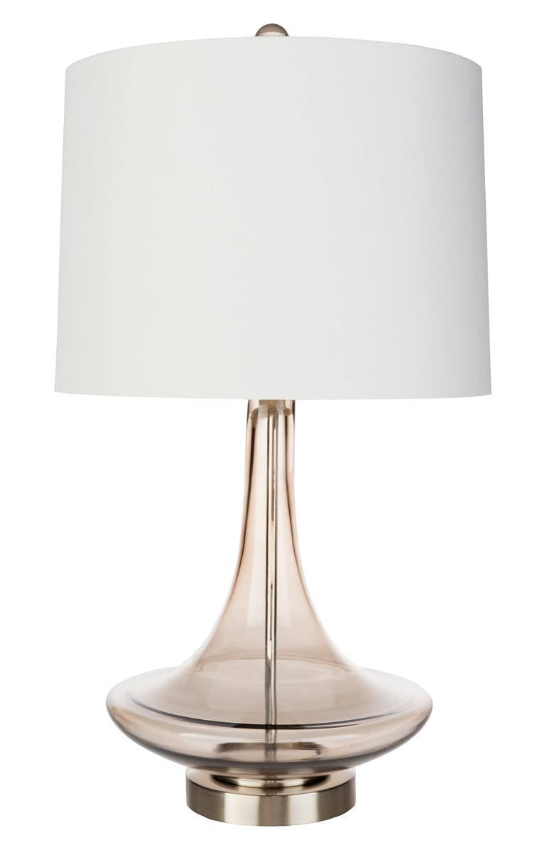 SURYA HOME Zoey Glass Table Lamp, Main, color, WHITE