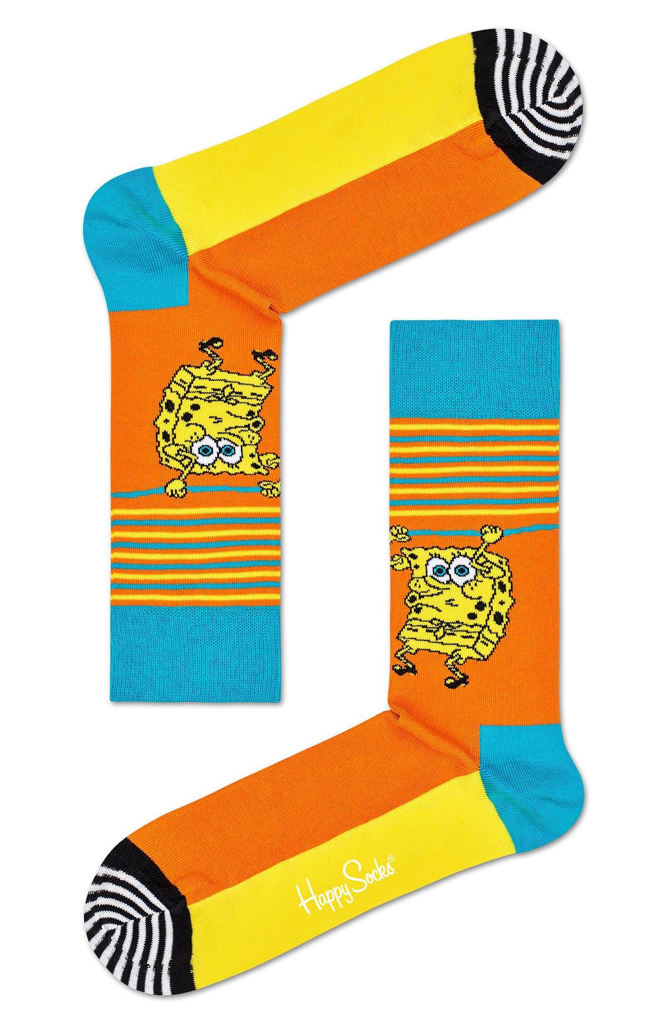 X Spongebob Let'S Work It Out Socks