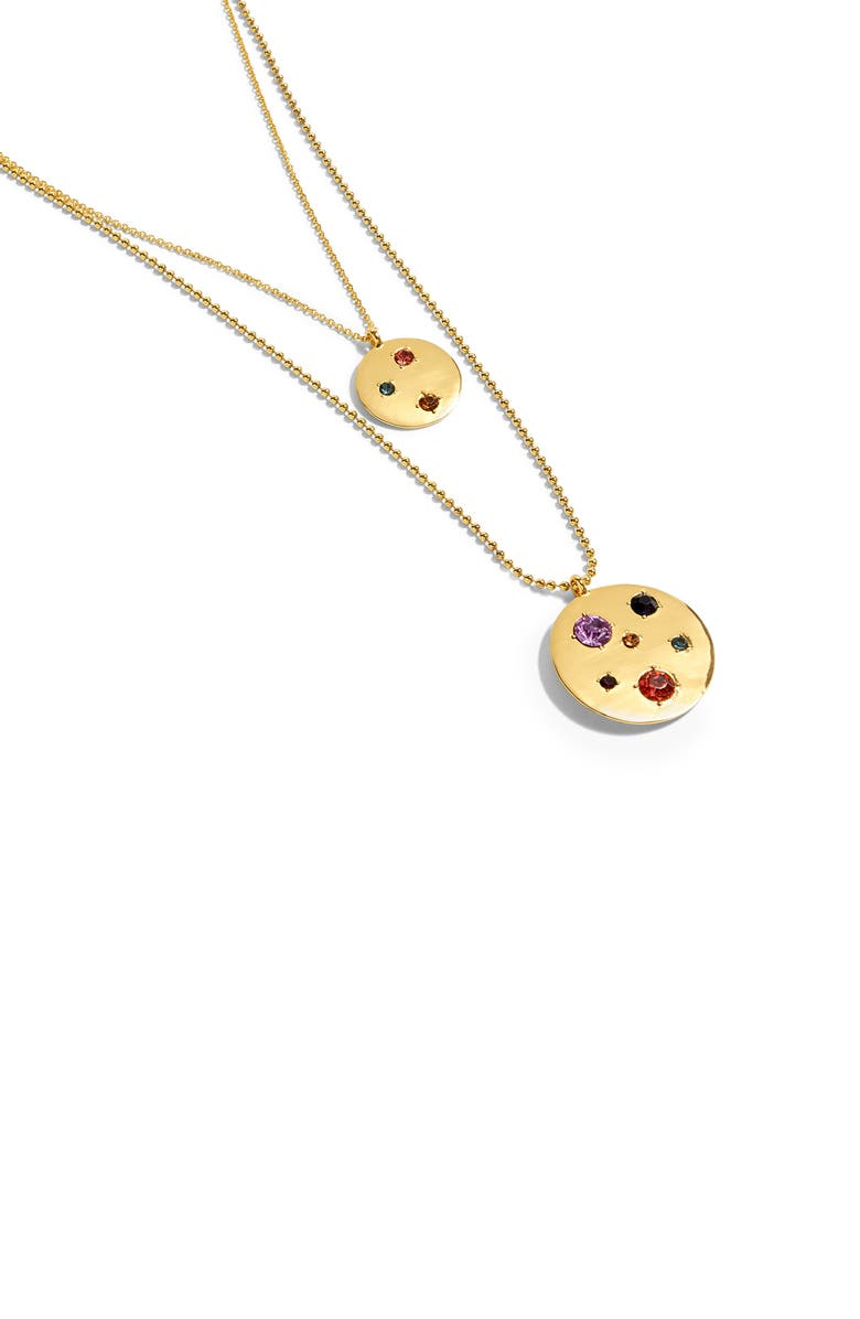 07f67424a7b78c J.Crew Layered Hammered Disc Necklace | Nordstrom