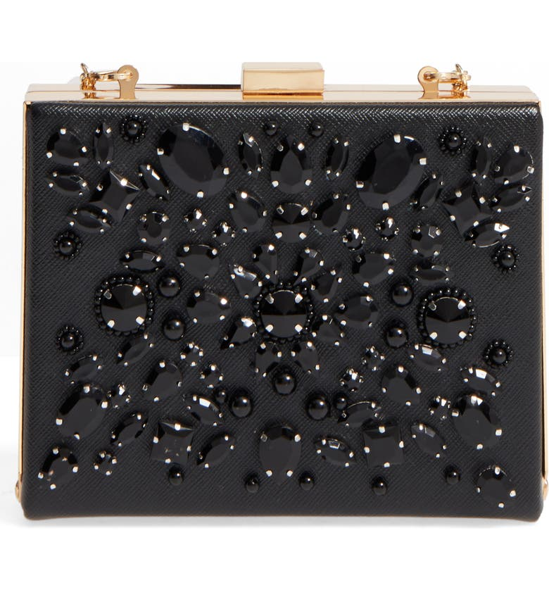 CARA Crystal Box Clutch, Main, color, 001