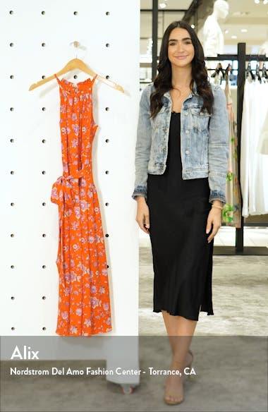 Floral High Neck Midi Dress, sales video thumbnail