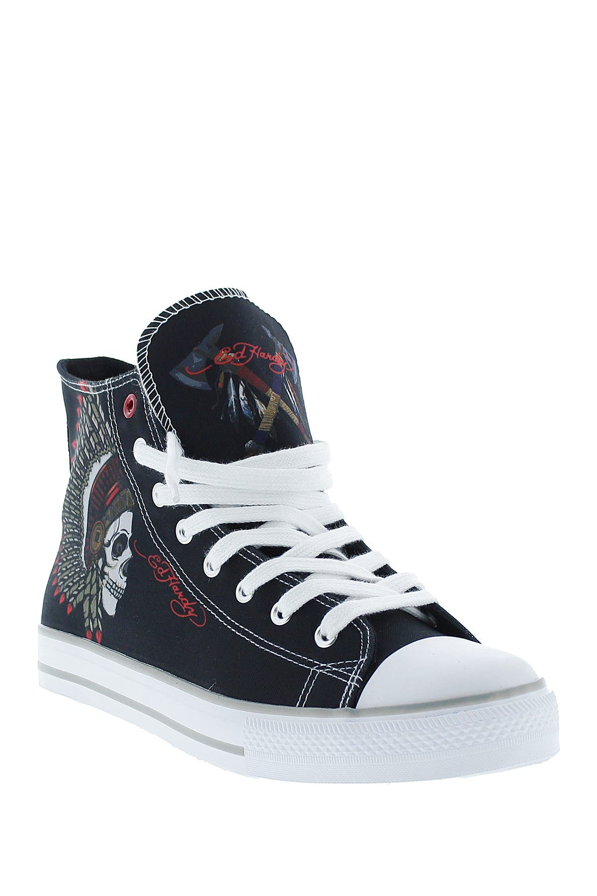 Image of Ed Hardy Skull High Top Sneaker