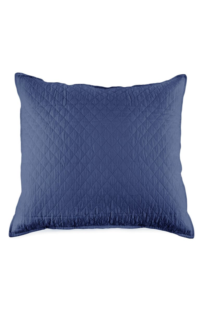 POM POM AT HOME Hampton Euro Sham, Main, color, NAVY