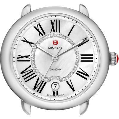 Michele Serein 16 Diamond Dial Round Watch Head, Mm