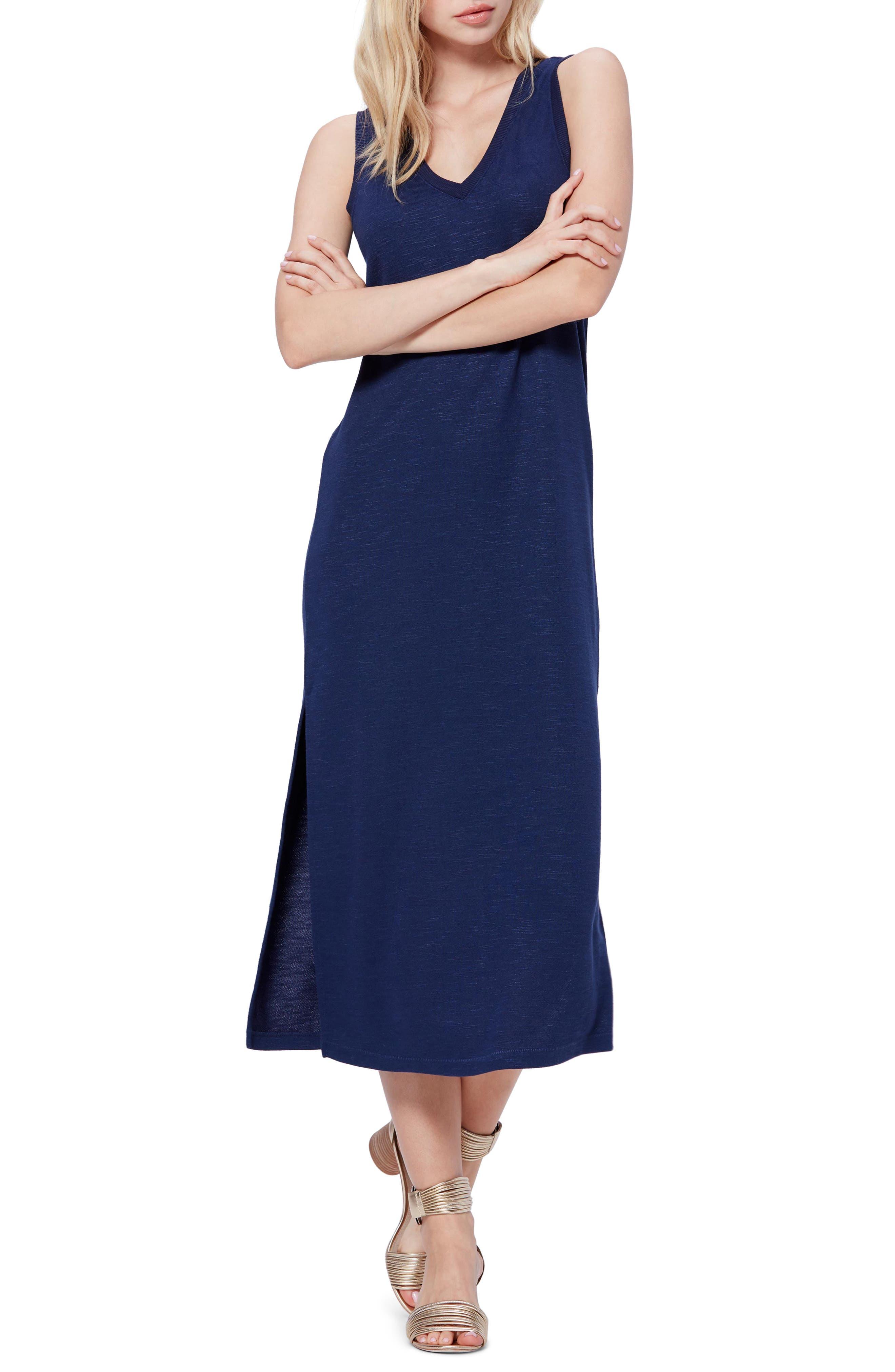 Paige Sage Midi Tank Dress, Blue