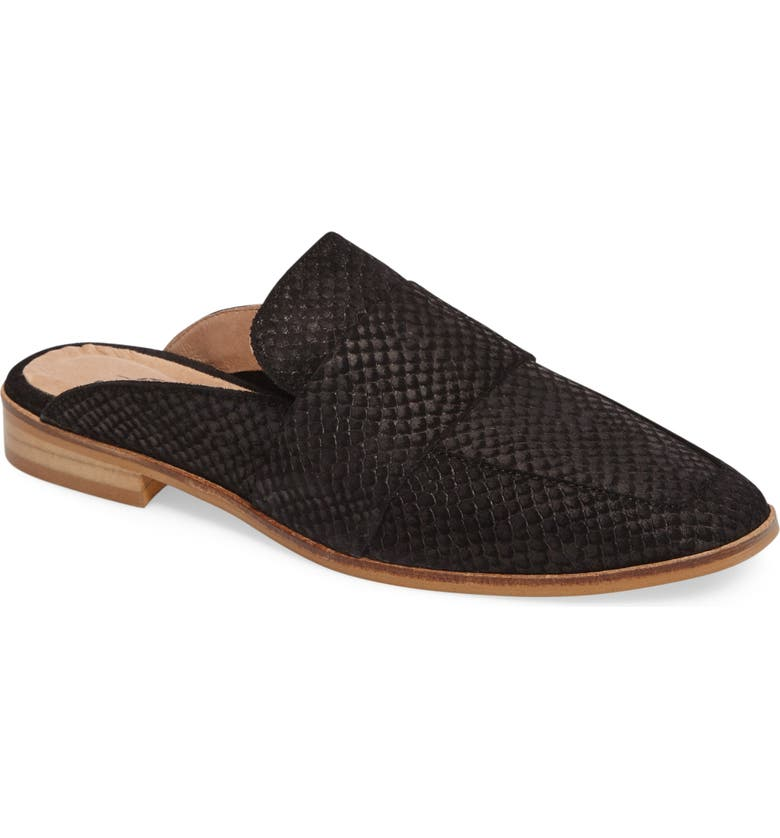 FREE PEOPLE At Ease Loafer Mule, Main, color, BLACK LEATHER