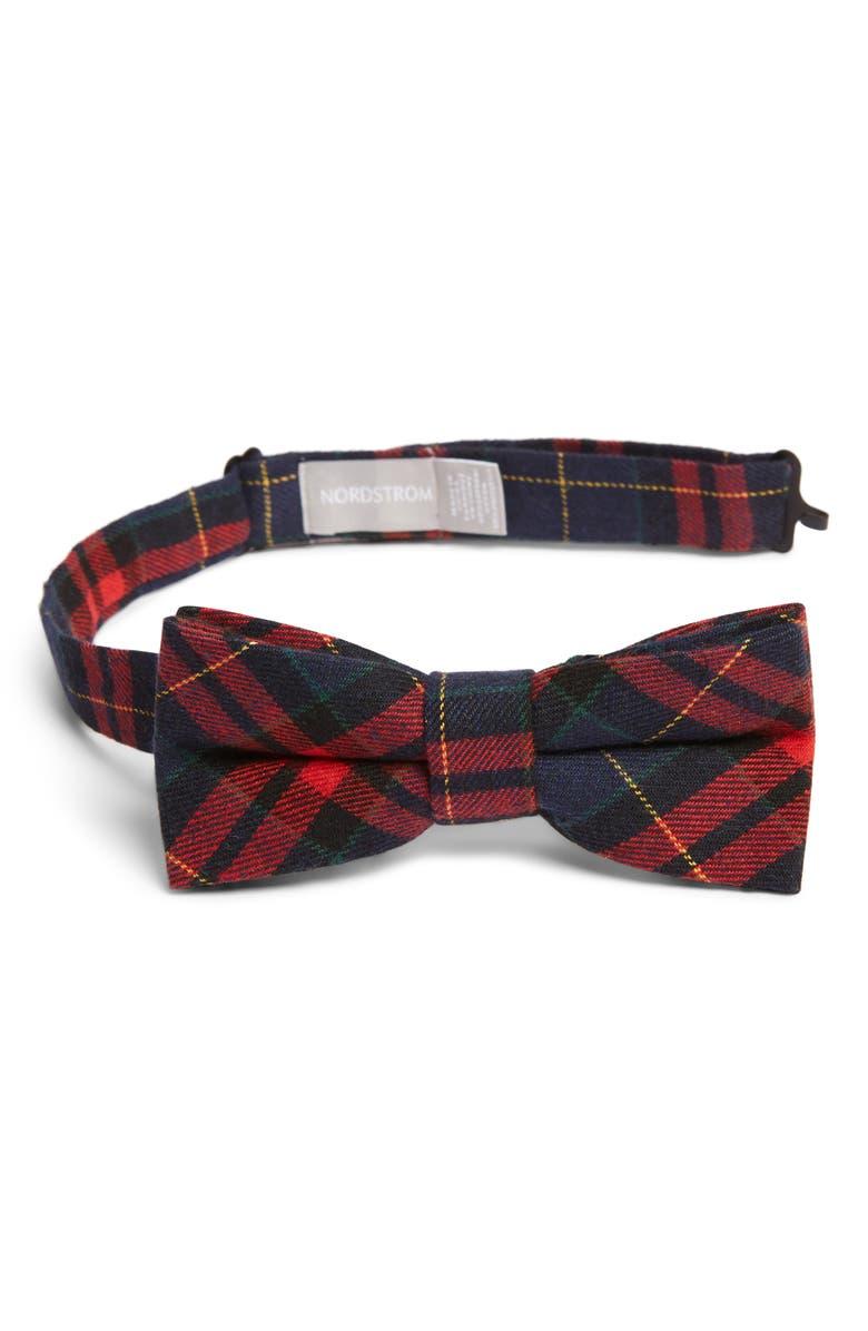 NORDSTROM Felix Plaid Bow Tie, Main, color, 600