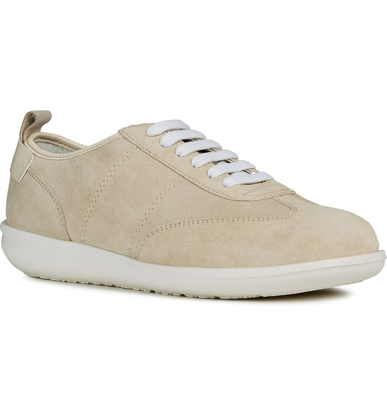 GEOX Jearl Sneaker, Main, color, CREAM SUEDE