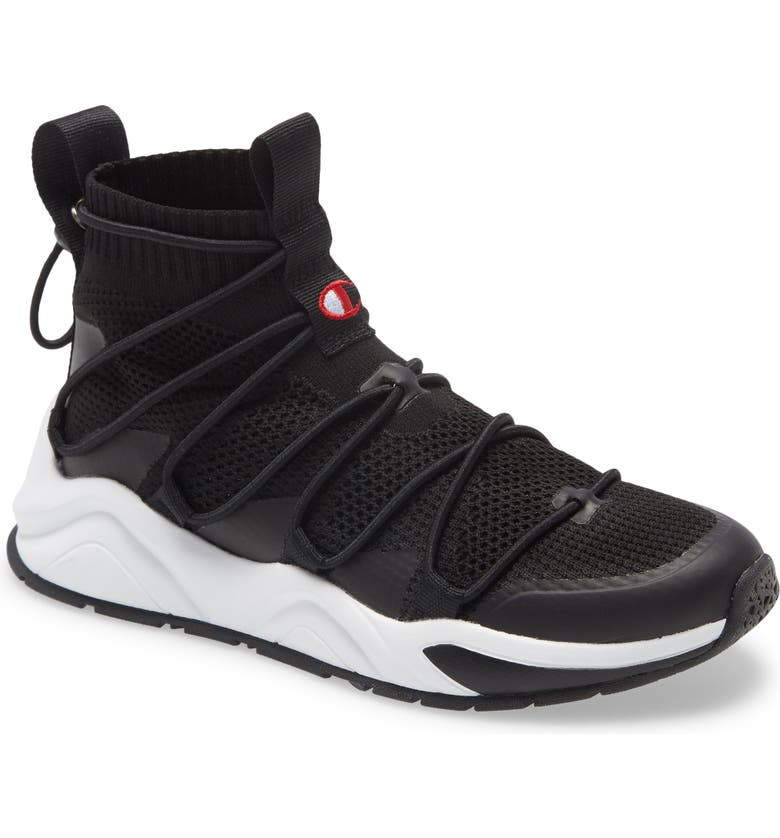 CHAMPION Rally Flux High Top Sneaker, Main, color, 001