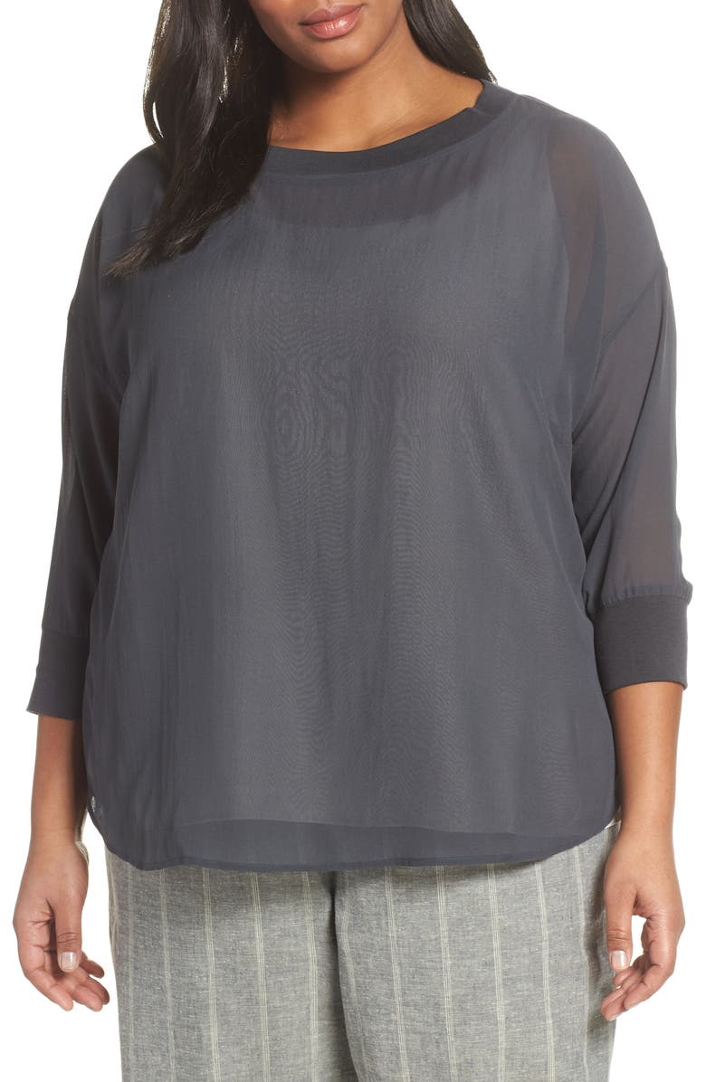 EILEEN FISHER Silk Top, Main, color, 025
