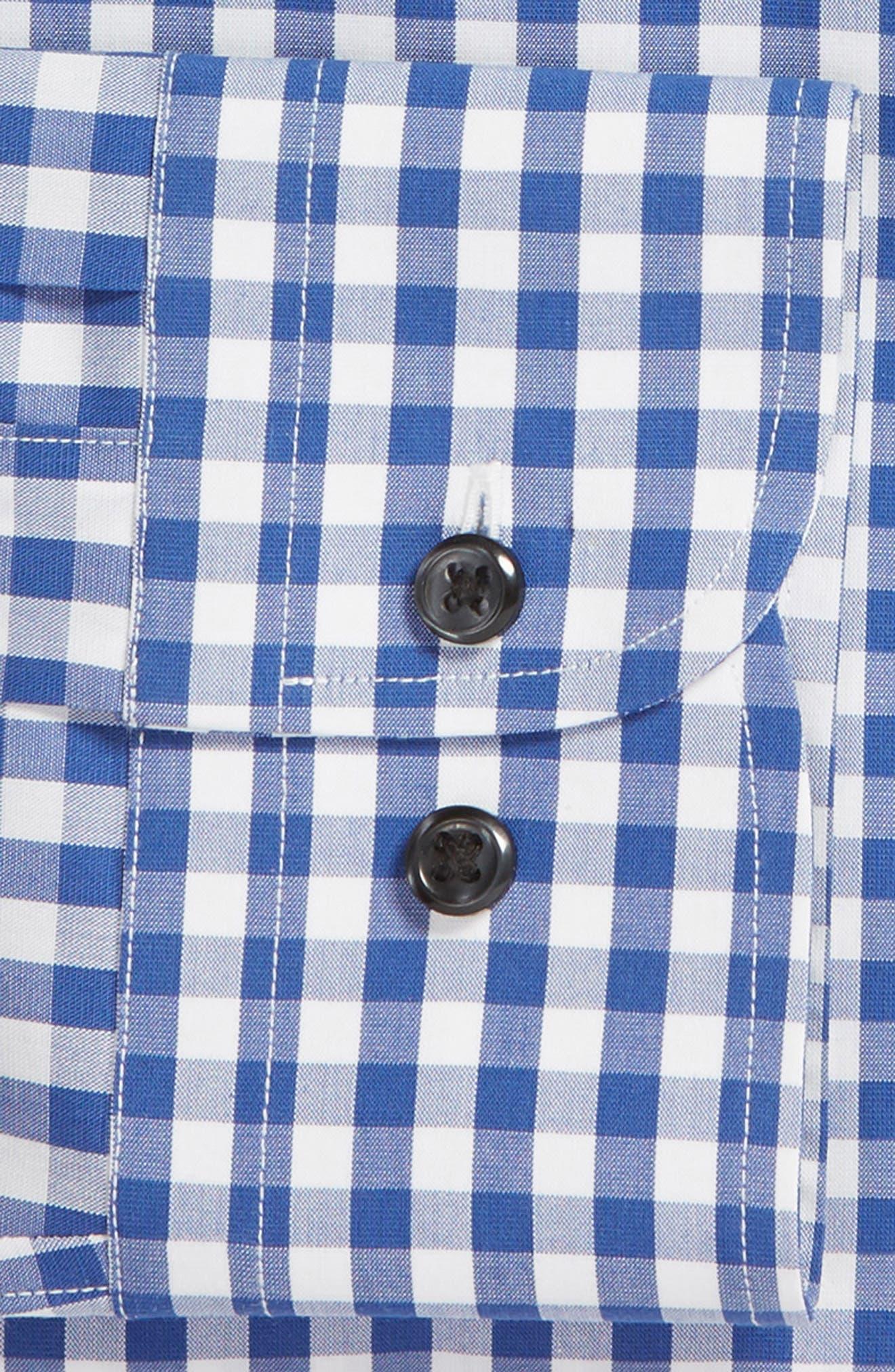 ,                             Tech-Smart Trim Fit Stretch Check Dress Shirt,                             Alternate thumbnail 32, color,                             420