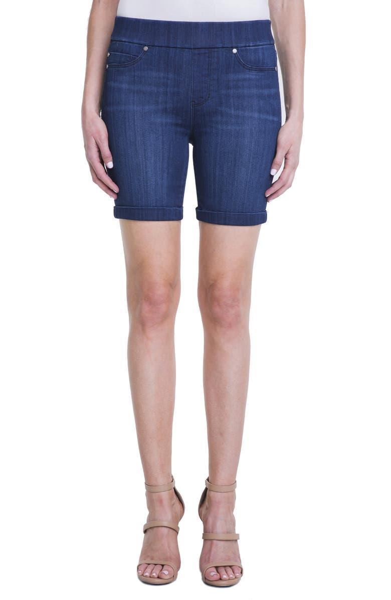 LIVERPOOL Roxie Pull-On Shorts, Main, color, HAVASUE DEEP