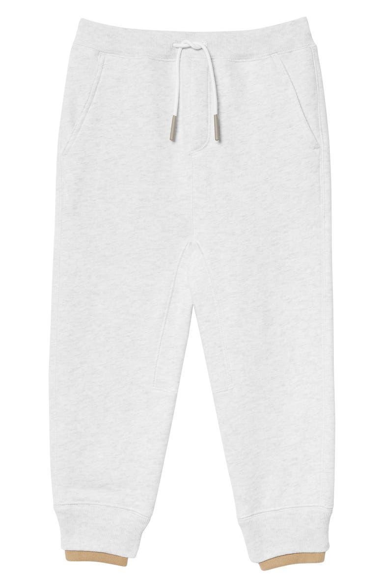 BURBERRY Fabbio Sweatpants, Main, color, WHITE MELANGE