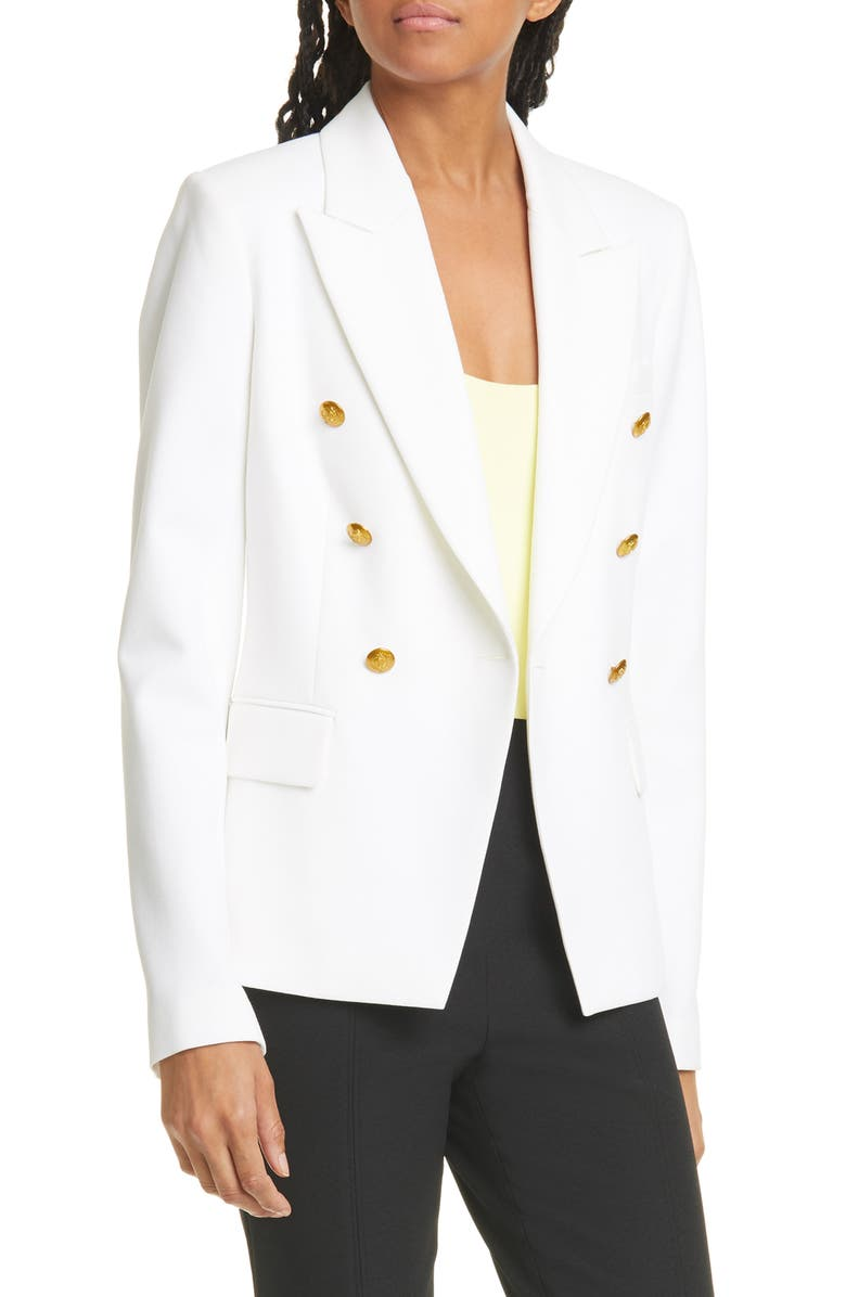 A.L.C. Hastings II Double Breasted Jacket, Main, color, WHITE