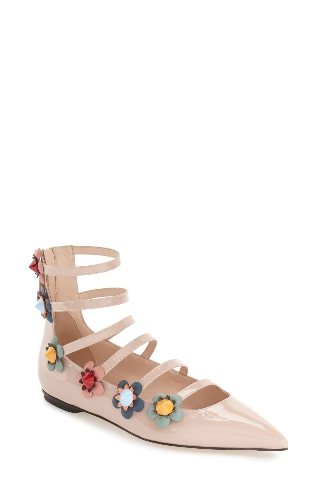 ,                             'Flowerland' Strappy Flat,                             Main thumbnail 5, color,                             251