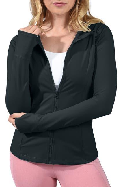 Image of 90 Degree By Reflex Slim Fit Hooded Zip Jacket