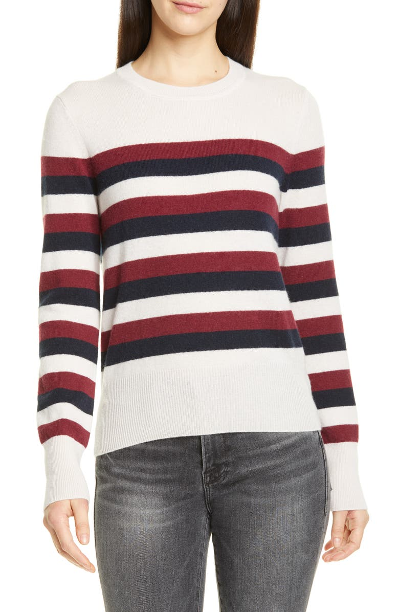 EQUIPMENT Cielle Stripe Wool & Cashmere Sweater, Main, color, 650