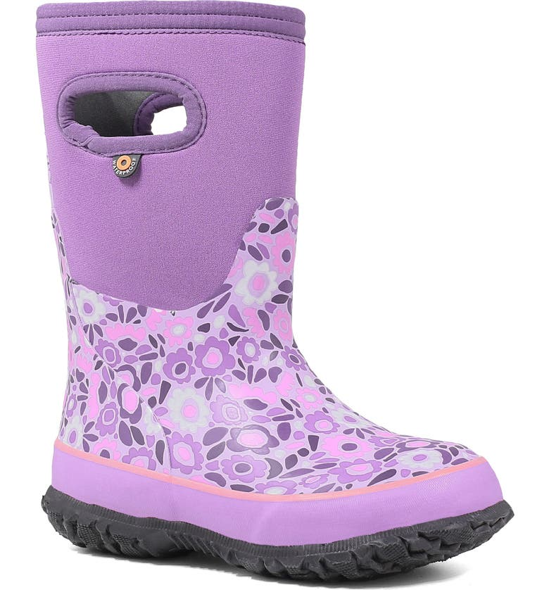 BOGS Grasp Ditsy Flower Waterproof Insulated Boot, Main, color, VIOLET MULTI