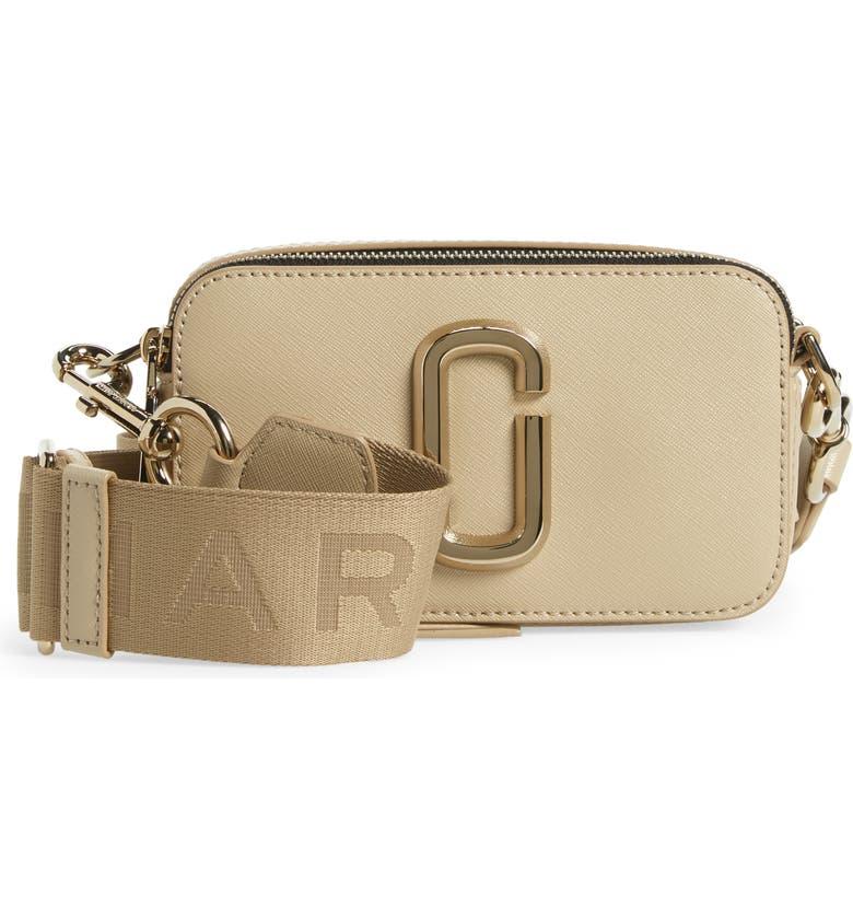 MARC JACOBS Snapshot DTM Leather Crossbody Bag, Main, color, KHAKI