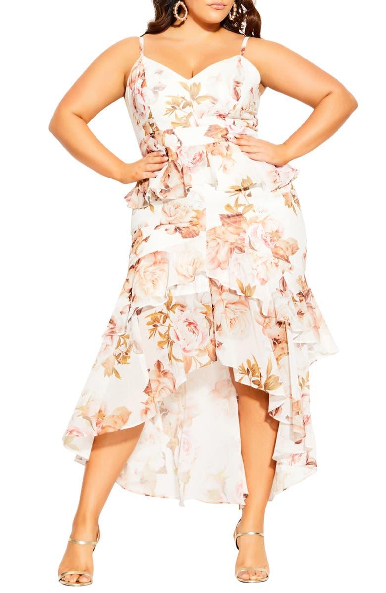 CITY CHIC Rose Bella Maxi Wrap Dress, Main, color, 109