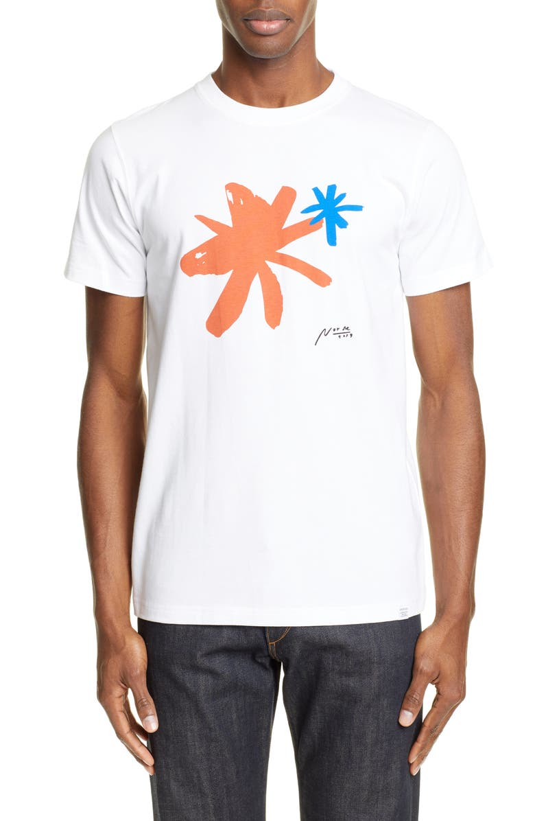 NORSE PROJECTS Neils Painted Shapes Graphic T-Shirt, Main, color, WHITE