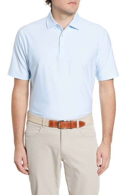 Image of Peter Millar Sean Pinstripe Printed Polo