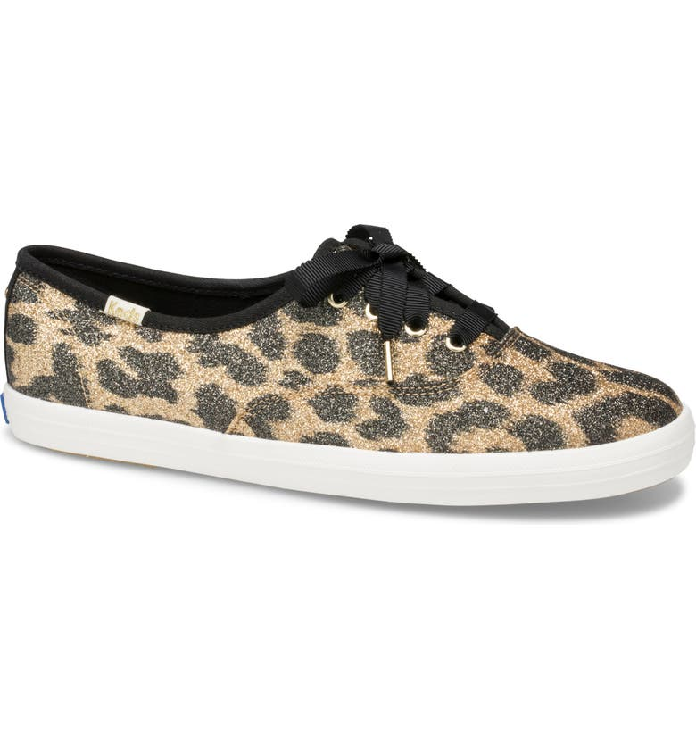 KEDS<SUP>®</SUP> FOR KATE SPADE NEW YORK Keds<sup>®</sup> x kate spade new york glitter sneaker, Main, color, TAN MULTI
