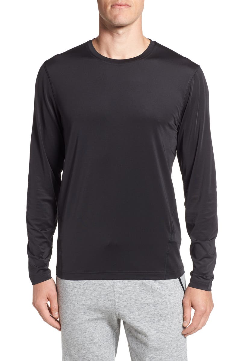 CUTTER & BUCK Enforce Base Layer T-Shirt, Main, color, BLACK