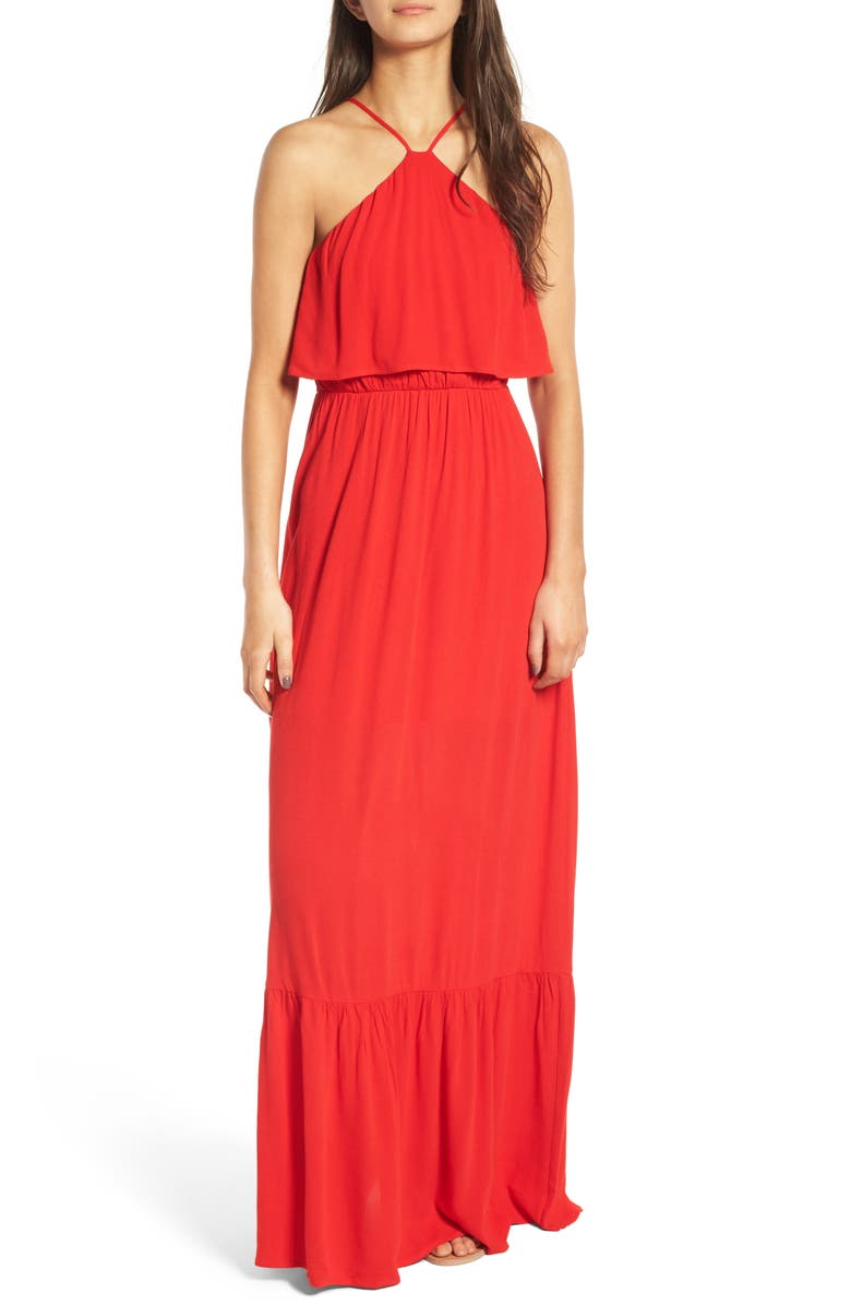DEE ELLY Popover Maxi Dress, Main, color, 600