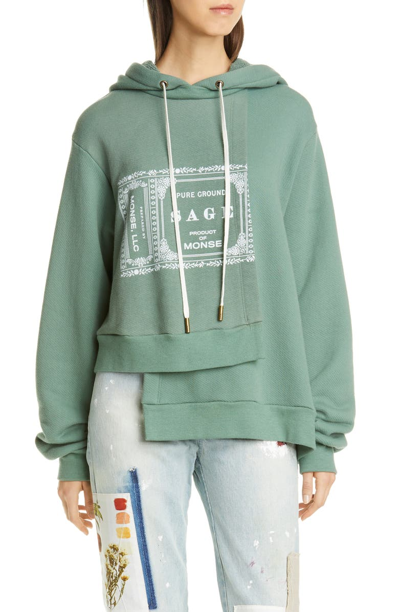 MONSE Logo Double Layer Hoodie, Main, color, 319