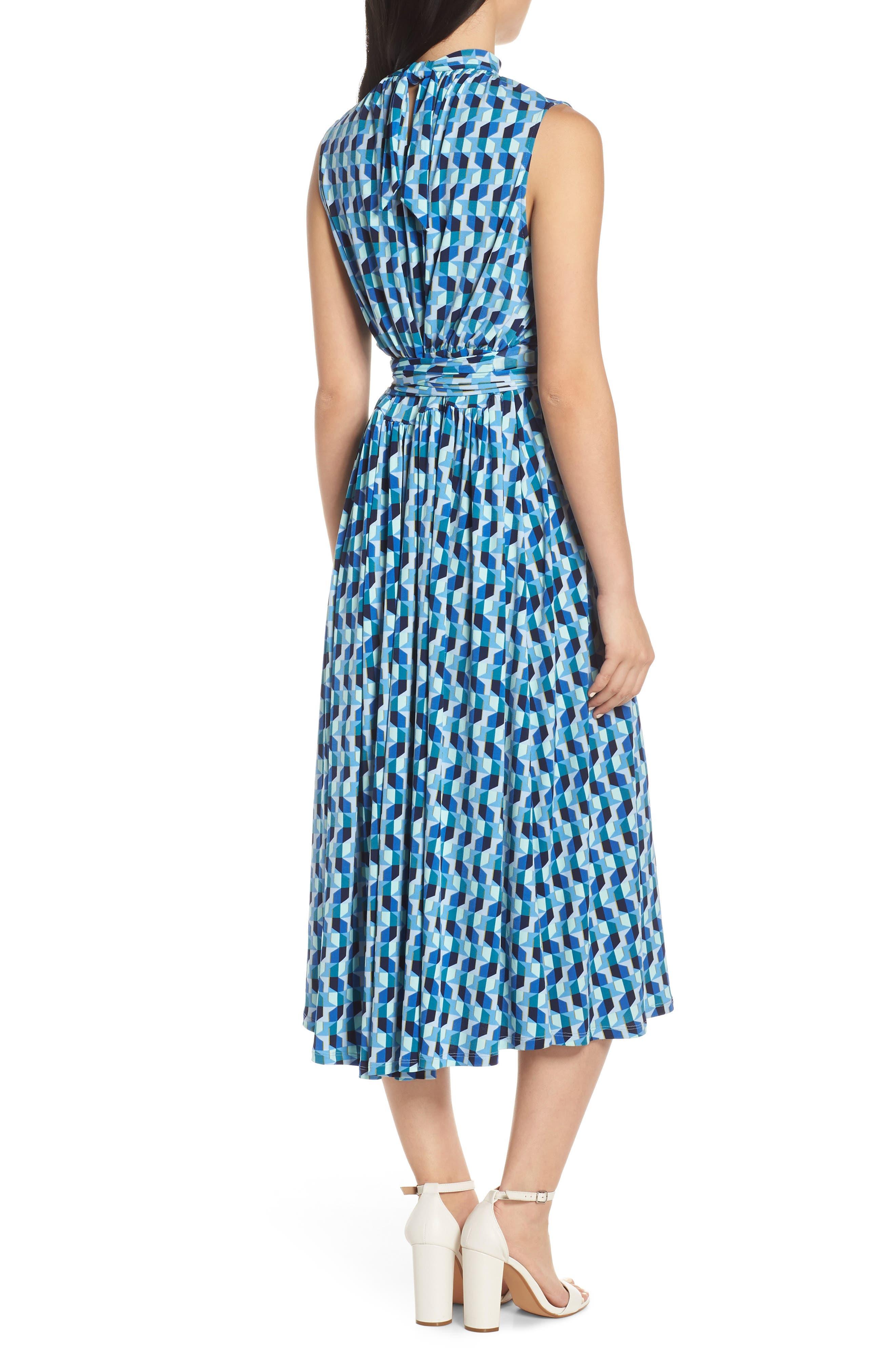,                             Mindy Shirred Midi Dress,                             Alternate thumbnail 2, color,                             AZURE BLUE