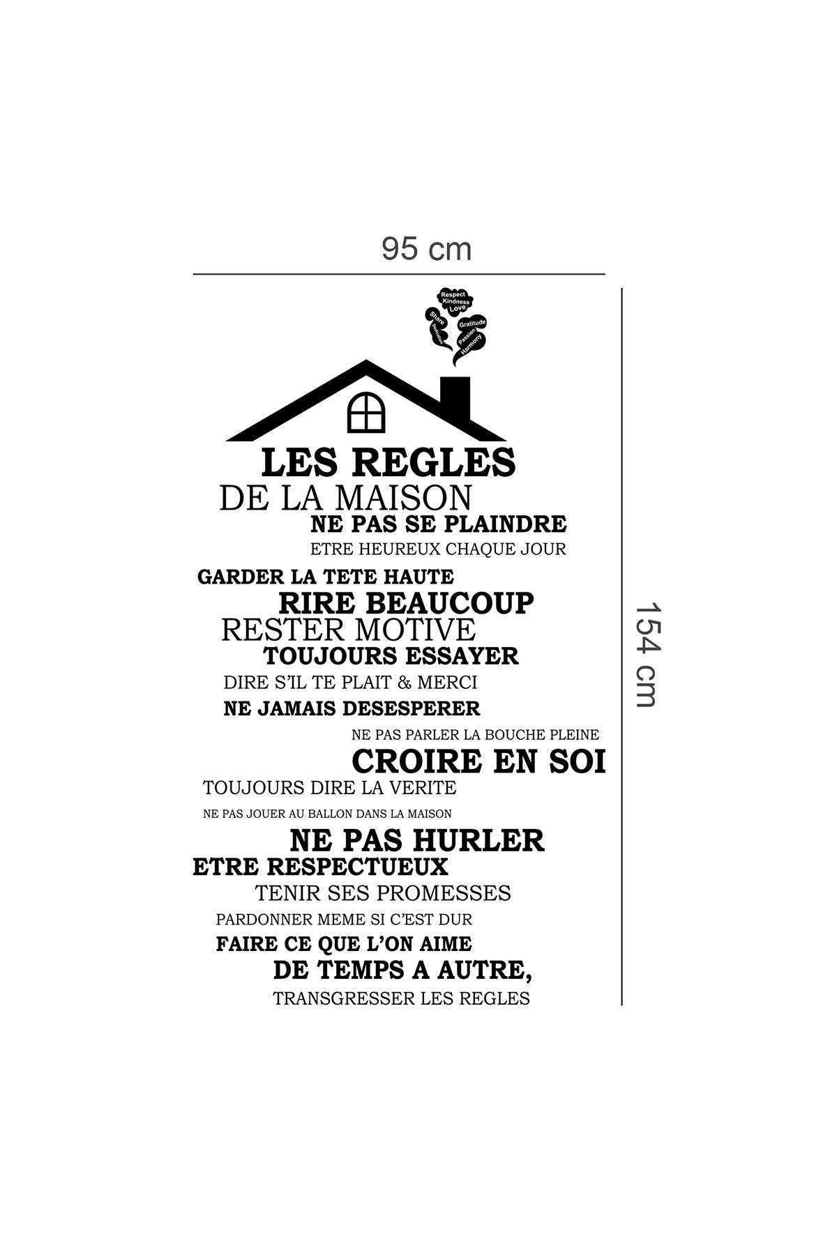 Walplus French Rooftop House Rules Wall Sticker Nordstrom Rack