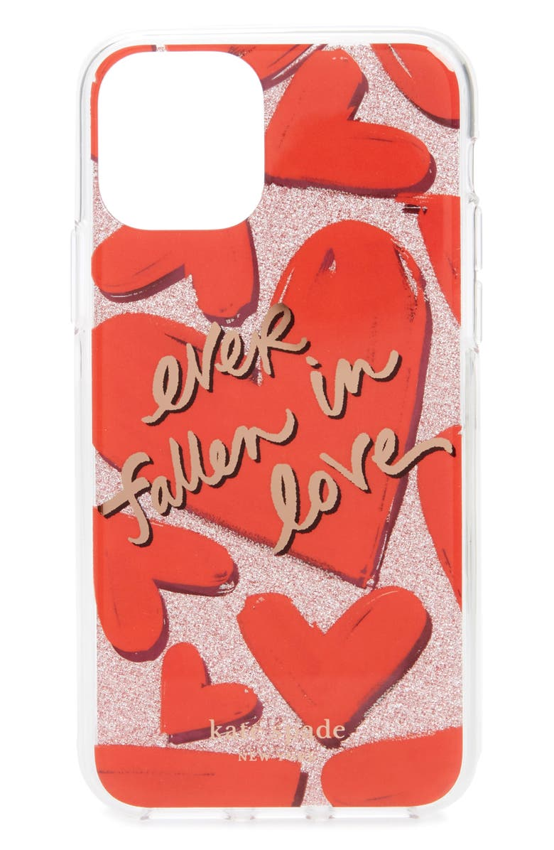 KATE SPADE NEW YORK ever fallen in love iPhone 11 Pro case, Main, color, 650