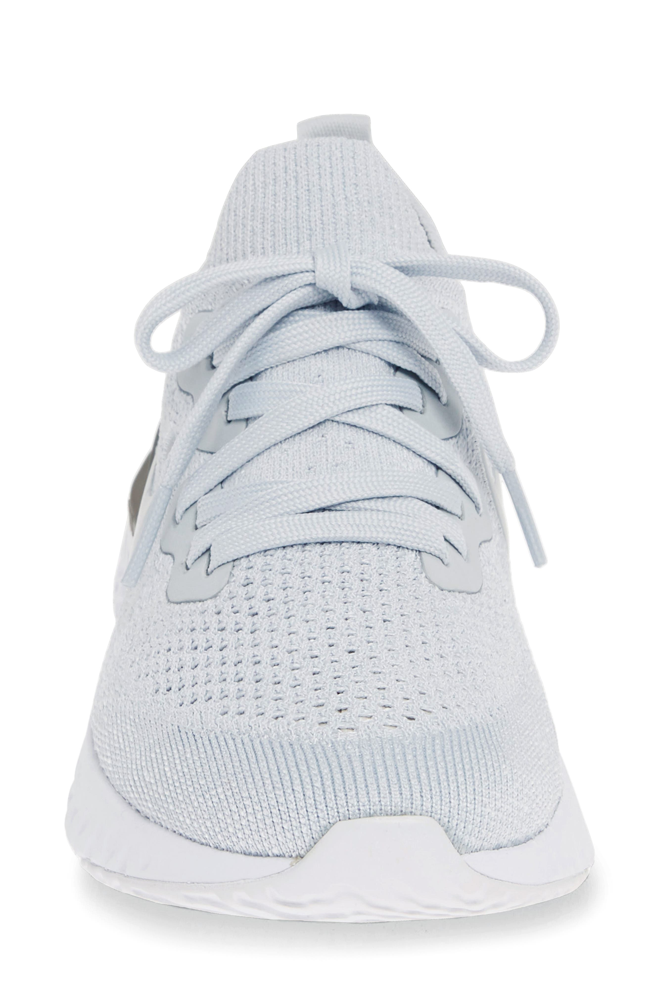 ,                             Epic React Flyknit 2 Running Shoe,                             Alternate thumbnail 5, color,                             PURE PLATINUM/ WOLF GREY
