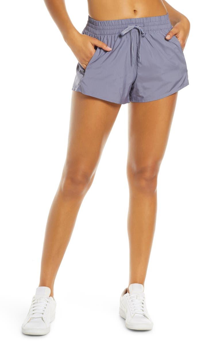ZELLA Aerin Track Shorts, Main, color, BLUE GRANITE