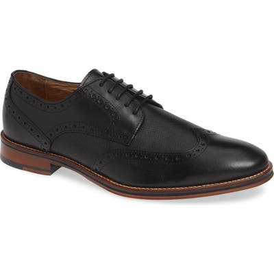 Johnston & Murphy Conard Embossed Wingtip- Black
