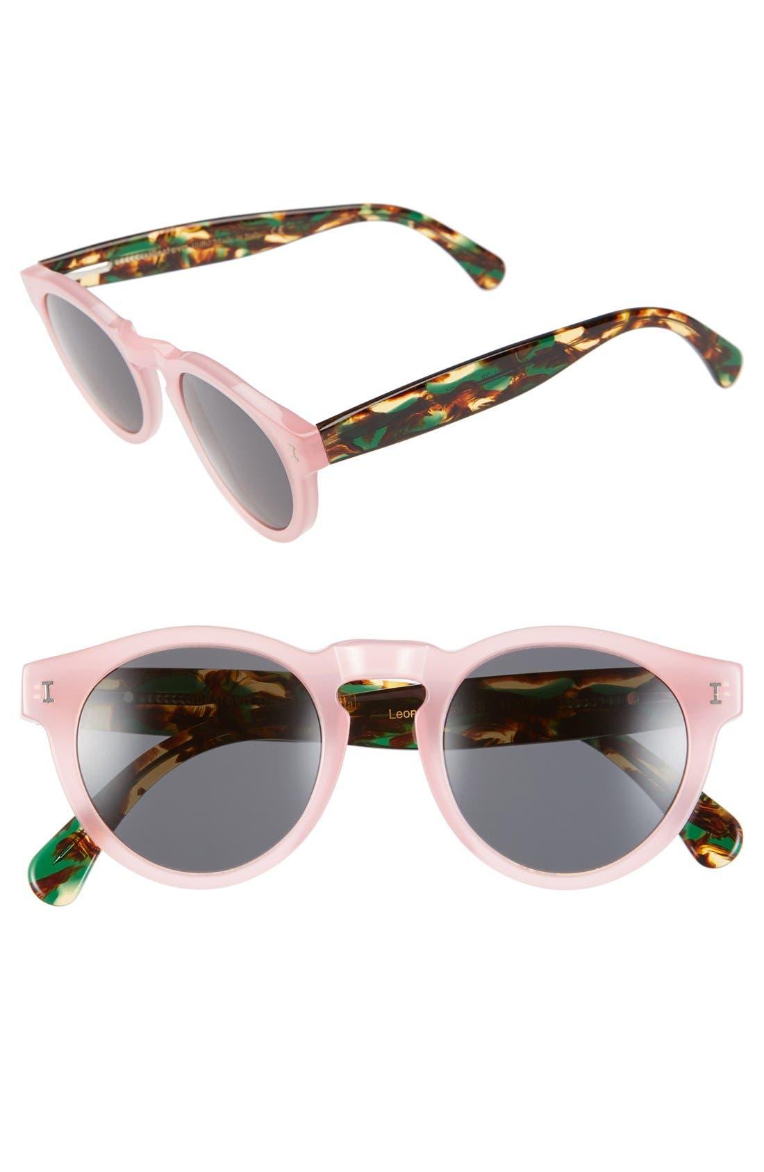 ,                             'Leonard' 47mm Sunglasses,                             Main thumbnail 132, color,                             650