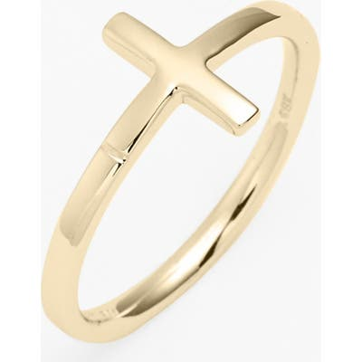 Bony Levy 14K Gold Cross Ring (Nordstrom Exclusive)